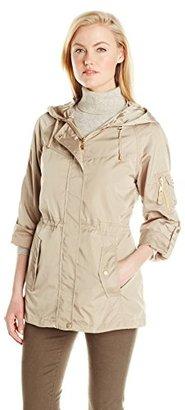 Jones New York Women's Hooded Anorak Jacket $172 thestylecure.com