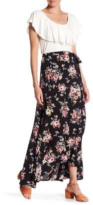Bobeau Long Wrap Skirt $68 thestylecure.com