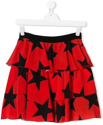 MSGM Kids Teen stars print skirt