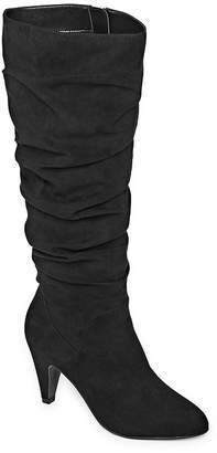 WORTHINGTON Worthington Womens Lara Slouch Cone Heel Zip Boots