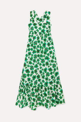 Borgo de Nor Mila Floral-print Cotton Maxi Dress - Green