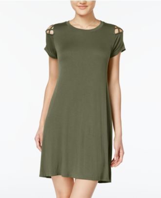 Planet Gold Juniors' Strappy-Shoulder T-Shirt Dress