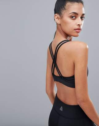 Reebok Hero Strappy Bra In Black