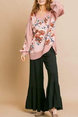Umgee USA Pink Floral Top