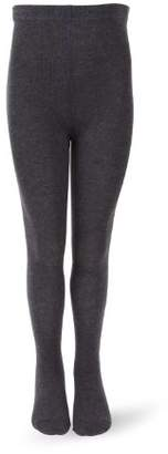 Melange Home Melton Girls' Basic Strumpfhose Tights, (Dark Grey 180), 39 (Herstellergröße: 11-12Y) UK