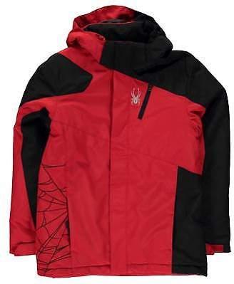 Spyder Boys Guard Jacket Junior Ski Coat Top Long Sleeve Lightweight Hooded