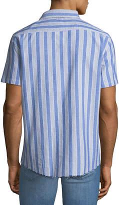 Sovereign Code Men's Striped Short-Sleeve Sport Shirt