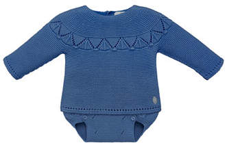 Carrera Pili Fair Isle Knit Sweater w/ Diaper Cover, Size 3-12 Months