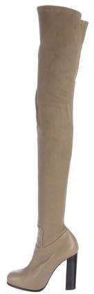 Céline Leather Thigh-High Boots