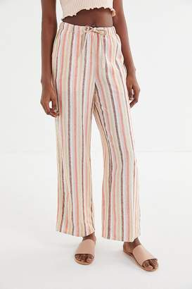 Urban Outfitters Chance Striped Linen Pull-On Pant