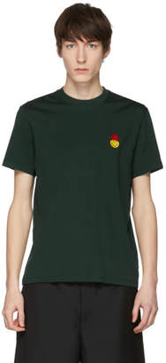 Ami Alexandre Mattiussi Green Limited Edition Smiley Edition Patch T-Shirt