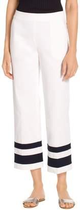 St. John Fine Stretch Twill Cropped Pant