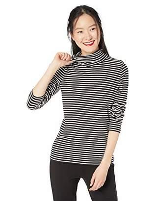 J.Crew Mercantile Women's Striped Lightweight Turtleneck T-Shirt