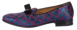 Gucci GG Metallic Smoking Slippers
