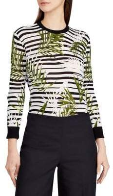 Lauren Ralph Lauren Palm-Stripe Sweater
