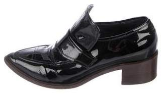 Chanel CC Patent Leather Pointed-Toe Loafers