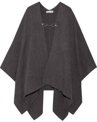 MICHAEL Michael Kors - Wool And Cashmere-blend Cape - Dark gray $350 thestylecure.com