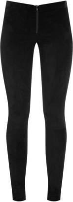 Alice + Olivia Front Zip Suede Leggings