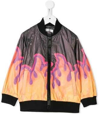 Stella McCartney flame print bomber jacket