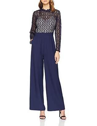 d795ede077 Little Mistress Women s Alice Navy Crochet Lace Jumpsuit Blue (Size )