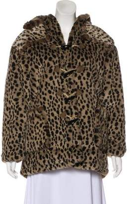 Rachel Riley Girls' Faux Fur Coat
