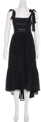 Ulla Johnson Silk Lace-Trimmed Maxi Dress