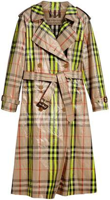 Laminated Check Trench Coat – Online Exclusive