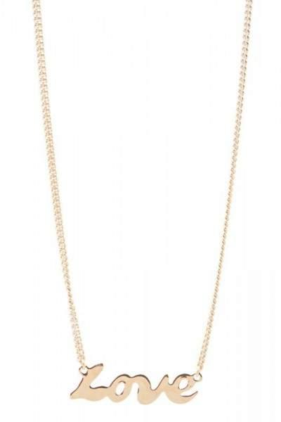 Styleserver DE Tomshot Halskette mit Love-Pendant vergoldet