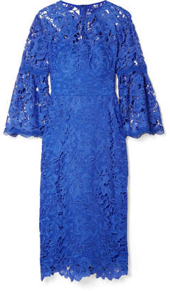 Lela Rose Guipure Lace Dress - Blue