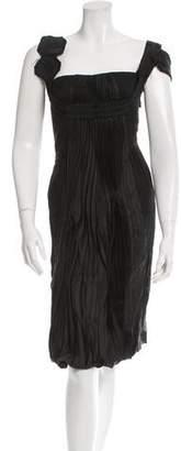 Prada Pleated Silk Dress w/ Tags