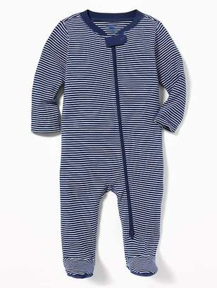 Old Navy Striped Footed One-Piece for Baby