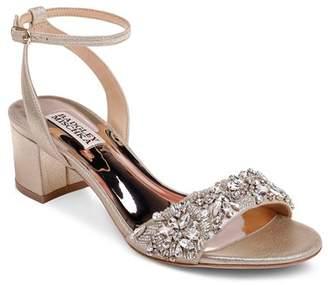 Badgley Mischka Women's Ivanna Crystal-Embellished Block Heel Sandals