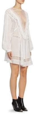 Isabel Marant Women's Rowena Plunging Lace Dress - White - Size 38 (2)