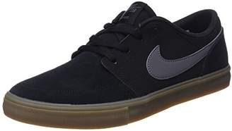 Nike Men's Sb Portmore Ii Solar Skateboarding Shoes, (Black/Dark Grey/Gum Light Brown 009)