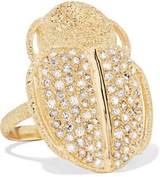 Carolina Bucci Scarab 18-karat Gold Diamond Ring - 6