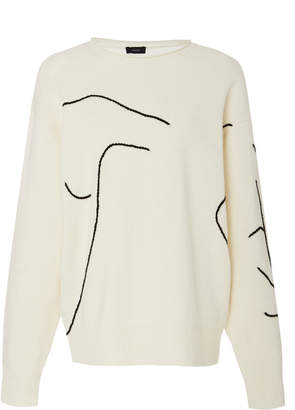 Joseph Embroidered Wool Sweater