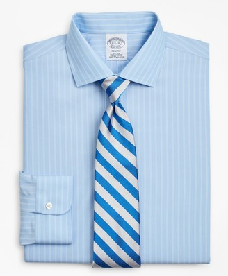 Brooks Brothers Regent Fitted Dress Shirt, Non-Iron Double-Stripe
