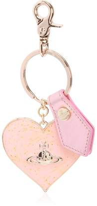 Vivienne Westwood Mirror Heart Leather Key Chain