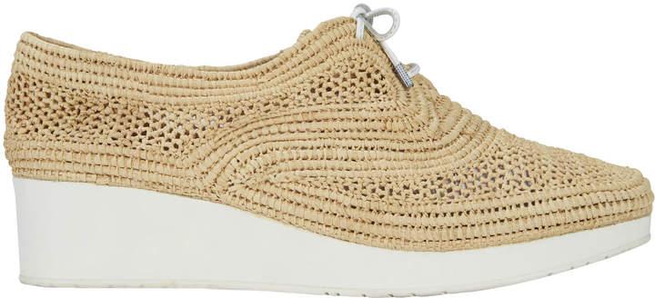 Robert Clergerie Raffia Platform Sneakers