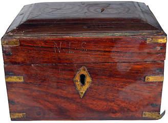 One Kings Lane Vintage Antique Indian 6-Bottle Perfume Box - FEA Home