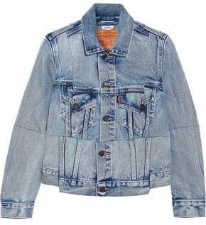 Vetements + Levi's Paneled Faded Denim Jacket