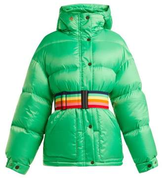 Perfect Moment - Hooded Down Filled Ski Jacket - Womens - Green