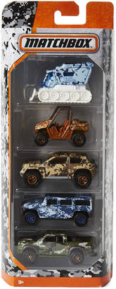 Matchbox 5-Piece Camouflage Truck Set