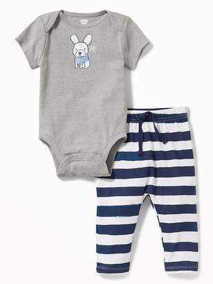 Old Navy 2-Piece Graphic Bodysuit and Leggings Set for Baby