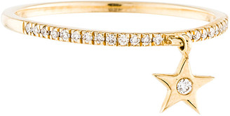 Downtown Diamonds Adornia 14K Diamond Star Dangle Ring