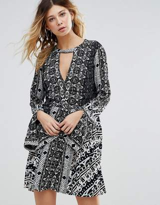 Free People Tegan Border Print Dress