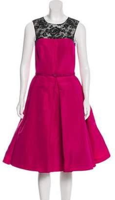 Oscar de la Renta 2016 Silk Dress w/ Tags Fuchsia 2016 Silk Dress w/ Tags