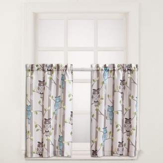 No918 No 918 2-pack Hoot Owl Tier Kitchen Window Curtain Set