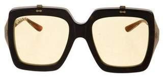 Gucci Square Flip-Up Sunglasses