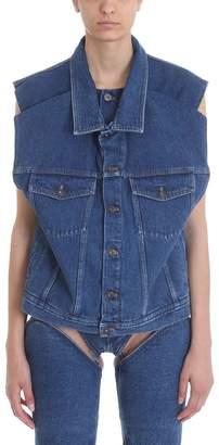 Y/Project Denim Sleeveless Jacket